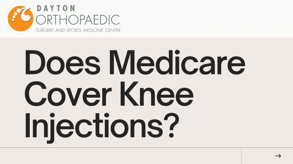 medicare knee injections
